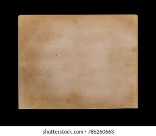 Old photo frame isolated on black background, with clipping path