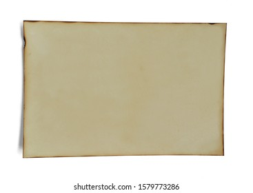 Old photo paper isolated on white background.