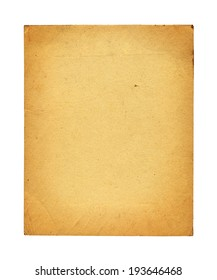 Old photo paper texture isolated on white background