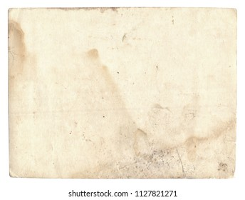 Old photo texture with stains and scratches isolated