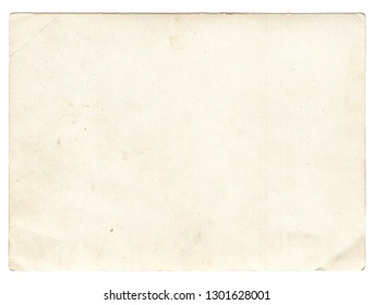 Old photo texture with stains and scratches isolated on white