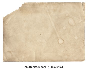 Old photo vintage texture with stains and scratches isolated on white