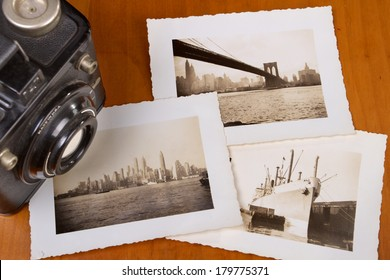 Old Photo's with the New York Skyline
