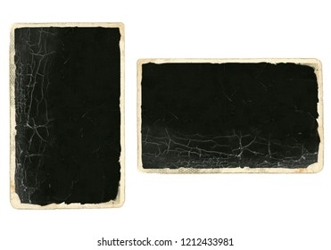 Old photos paper isolated on white background.