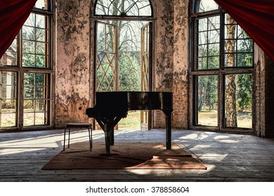 An old piano in a beautiful lost place