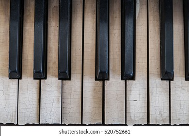 Old piano keyboard background