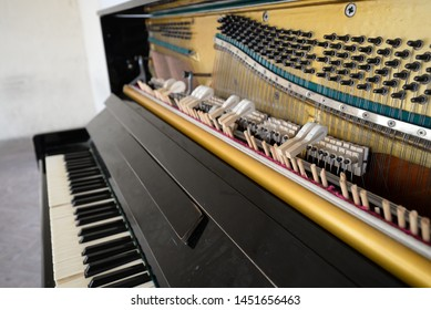 old piano or keyboard keys
