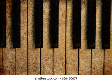 Old piano vintage background