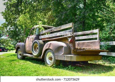 Old pickup truck in the country