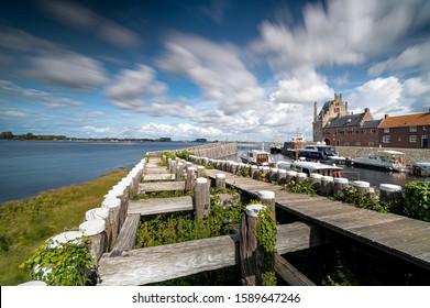 Old picturesque Dutch historical port in Veere, Zeeland.