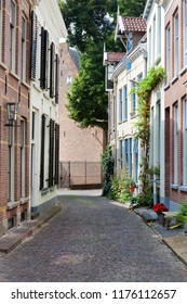 Old picturesque street in the city center of Zutphen in the Netherlands