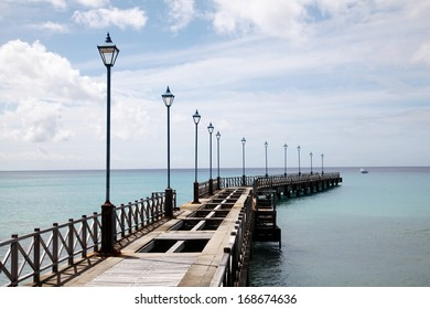 Old pier in Barbados, Caribbean