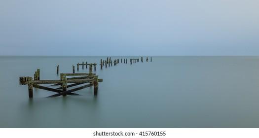 old pier long exposure