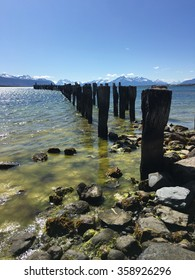 Old pier in Puerto Natales, Chile