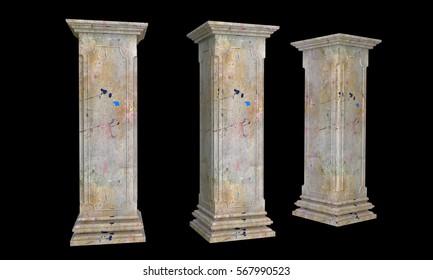 old pillar,pillar,house pillar,wall pillar,square pillar,3d pillar,art pillar, pillars