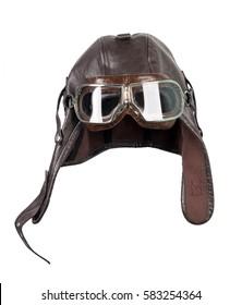 Old pilot / aviator hat