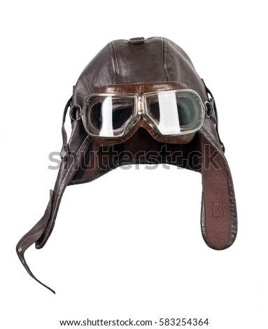 Old Pilot Aviator Hat Stock Photo (Edit Now) 583254364 - Shutterstock 61e357e25d10
