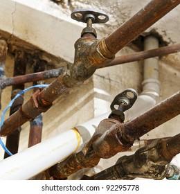 Imágenes, fotos de stock y vectores sobre Basement Pipes | Shutterstock