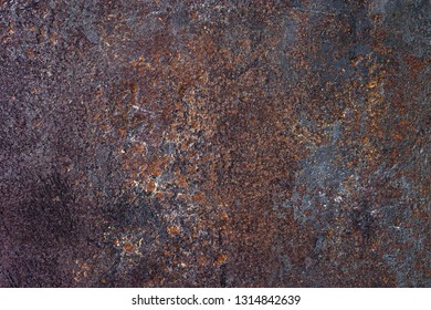 old pitted rusty iron background texture