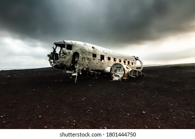 An old plane wreck in Iceland