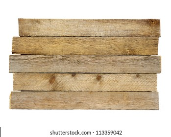 Old plank isolated on white