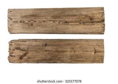Genial Old Plank Of Wood Isolated On White Background