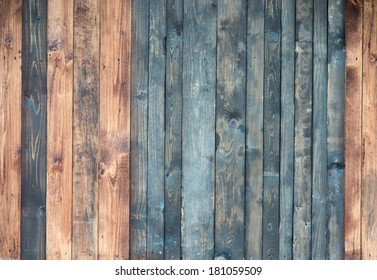 Old plank wooden wall background