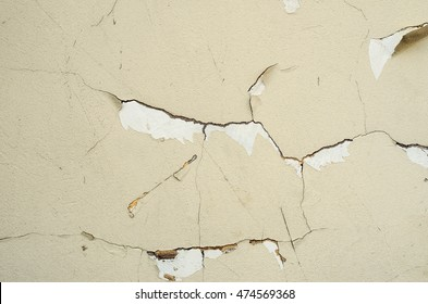 Old plaster texture with cracks and signs of aging