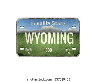 Old plate. License plate