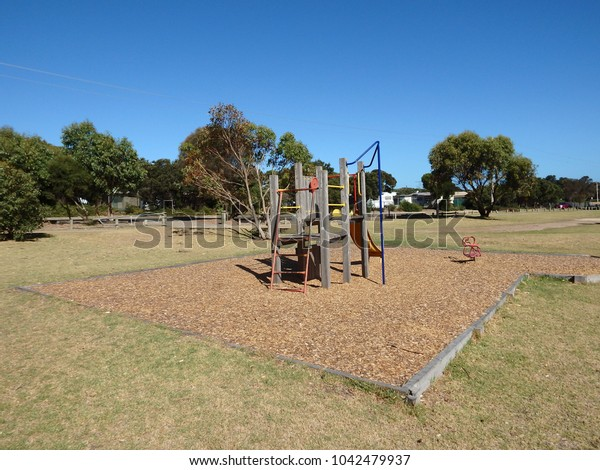 Old playground in a park