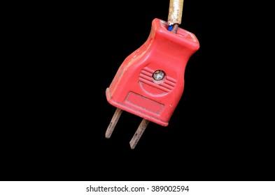 Old Plug isolate on black background