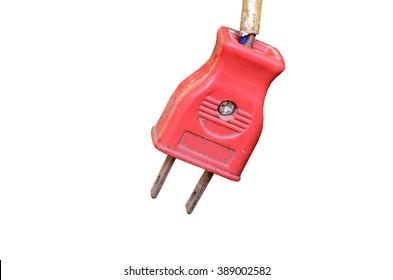 Old Plug isolate on white background