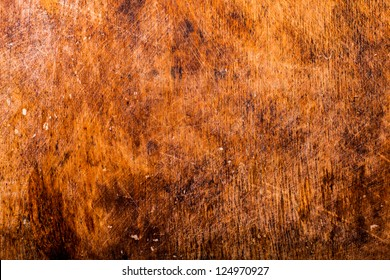 Old plywood background with dust and scratches