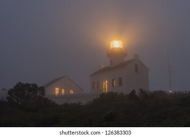 The Old Point Loma Lighthouse in the fog