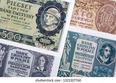 Old Polish money - Zloty, a business background