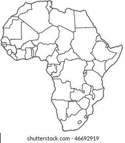 Old political map africa stock illustration 46692919 shutterstock old political map of africa ccuart Gallery