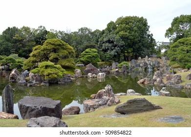 Old pond among the rocks in Japan