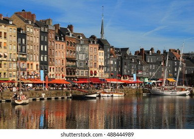 Old port of Honfleur, the French  Norman town