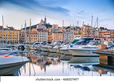 Old Port of Marseille in the early morning, Provence, France