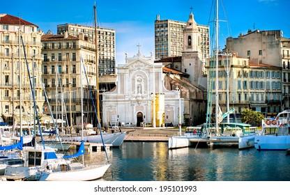 Old port of Marseilles, France