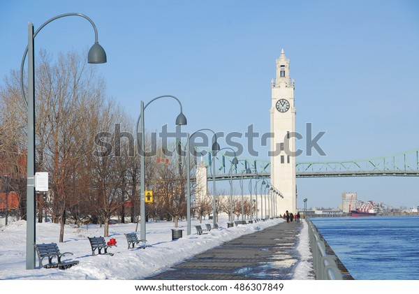 Old port Montreal in winter, Canada