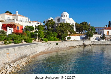 The old port of Spetses island, Greece