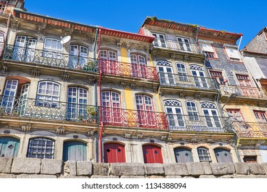 Old porto colorful houses of Ribeira