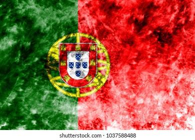 Old Portugal grunge background flag