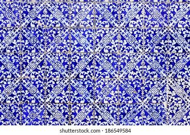 old portuguese ceramic tiles background