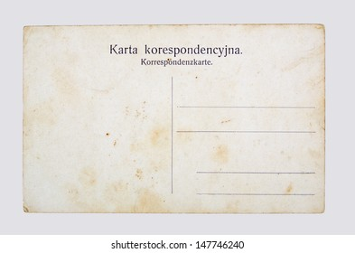 old post card, on a gray background