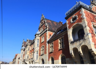 Old Post Office building. Bytom city in Upper Silesia (Gorny Slask) region of Poland.