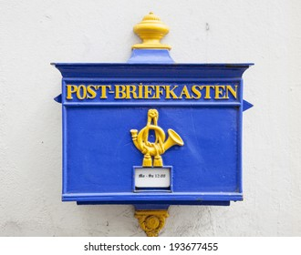old postbox in the centre of bremen