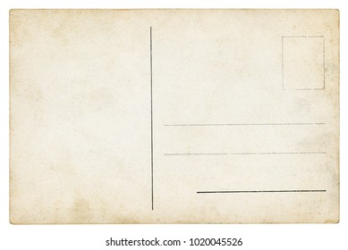 Old Postcard - isolated (clipping path included)
