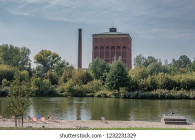 Old power station at the Odra river in Wroclaw, Poland